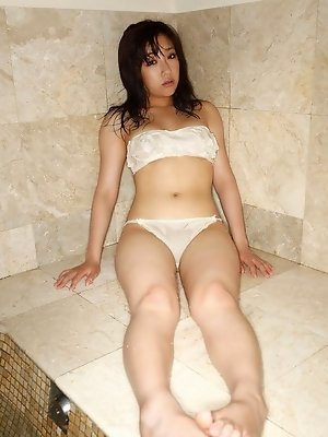 Cutie Sayuri Otome shows off her beautiful curves in lingerie